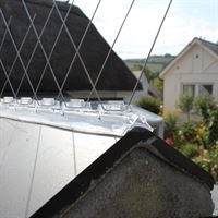 Defender Bird Roof Ridge Spikes are quick and easy to insatll