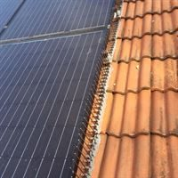 Defender Solar Panel Spikes do not touch the solar panel and keep pigeons out